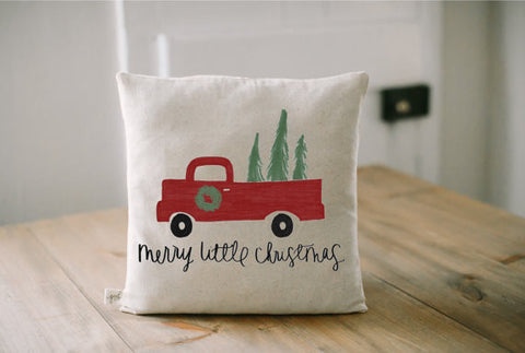 Merry Little Christmas Pillow Cover