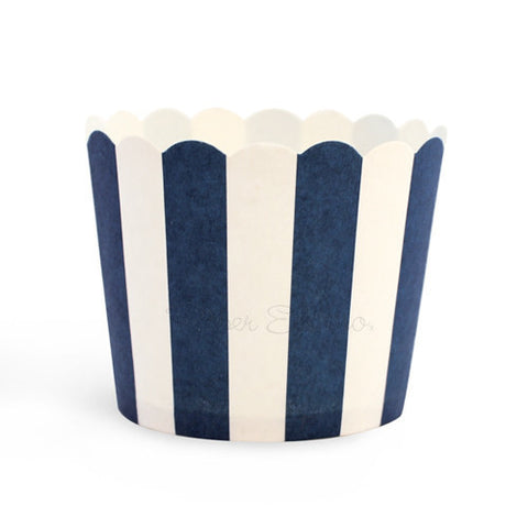 Baking Cup Navy Blue Stripes 25PC