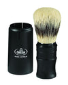 Omega Sterilized Pure Bristles Shaving Brush, Plastic Handle