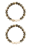 KENNEDY GOLD fossil coral/riverstone Bracelet by NICOLE LEIGH Jewelry