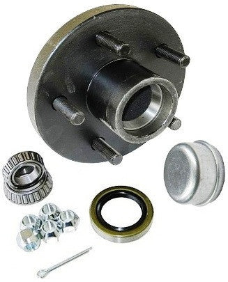 "Trailer Wheel Hub KIT for 3500lb. axles - L68149/L44649 Bearings - 5 on 5"" - Pacific Boat Trailers"