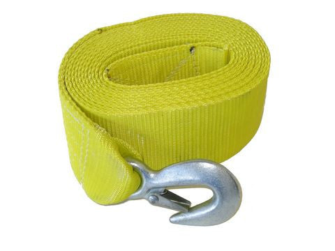 "3"" x 15' Yellow Trailer Winch Strap w/ Loop End 37422 - Pacific Boat Trailers"