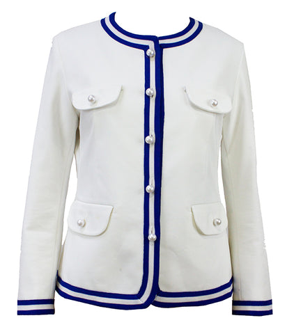 White Collarless Tech Lite Jacket