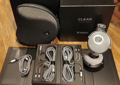 Focal Clear hheadphones, carry case and 3 cables - XLR, 6.5mm and 3.5mm