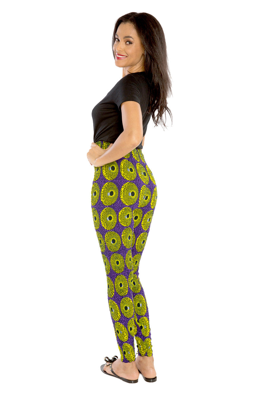 Afri-Jeggings High-Waisted African Print Pants