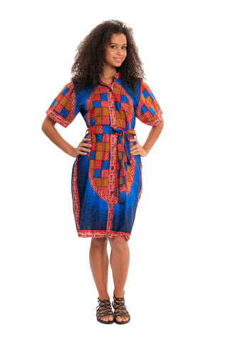 All In The Details African Print Dress
