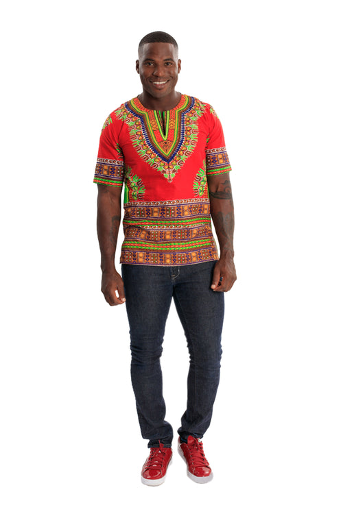 Culture Call African Men's Print Shirt
