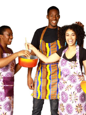 African Print Aprons