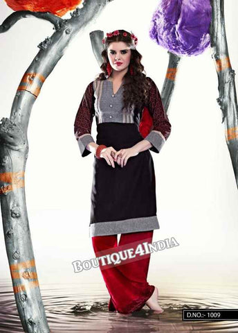 Grey Color Ravishing Rayon Fabric Kurti