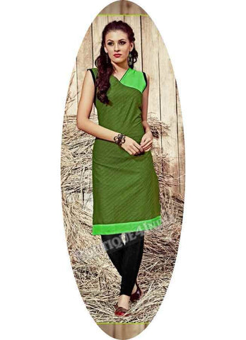 Green Exotic colored Rayon Fabric Kurti