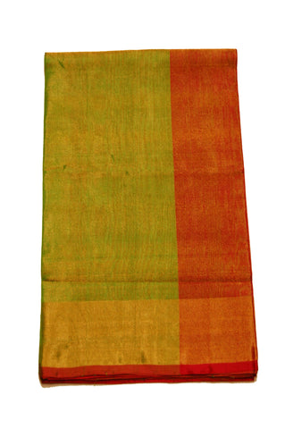 Uppada Tissue Silk  Saree in Golden/ Half and Green Color