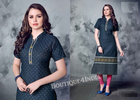 Denim winter wear desi kurti -1