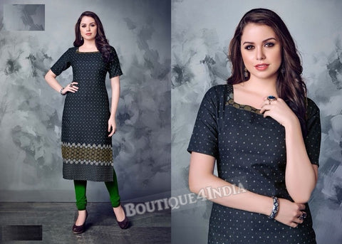 Denim winter wear desi kurti -2