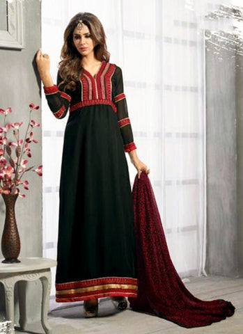 Black Georgette fancy Salwar Suit