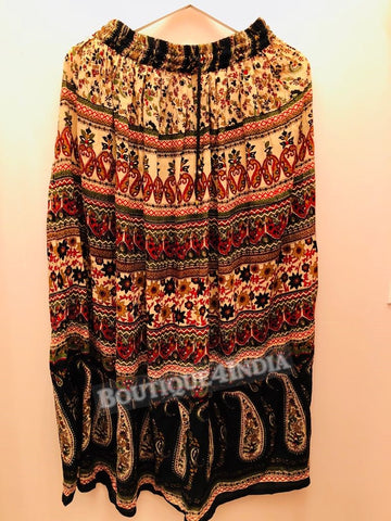 Rayon Multicolor Printed Skirt -2
