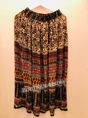 Rayon Multicolor Printed Skirt -5