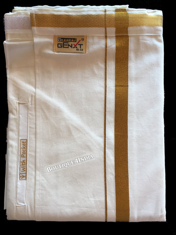 Ramraj Velco cream Single Dhoti