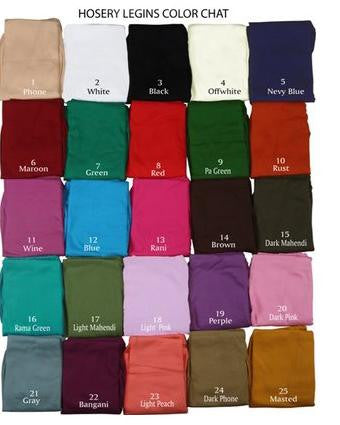 Good quality thick cotton comfort leggings for all seasons - Boutique4India Inc.