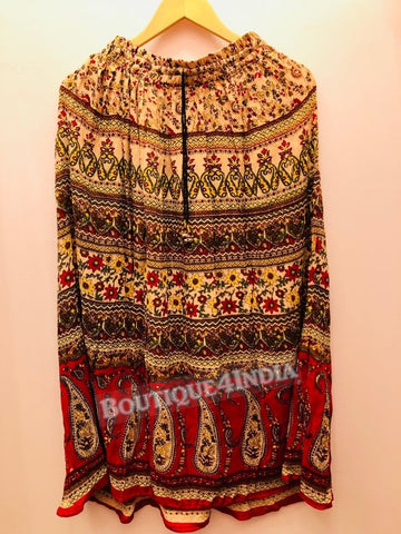 Rayon Multicolor Printed Skirt -1