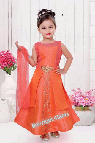 Girls Orange Latcha suit