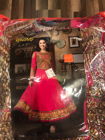 Pink Georgette Casual Wear Salwar Suit