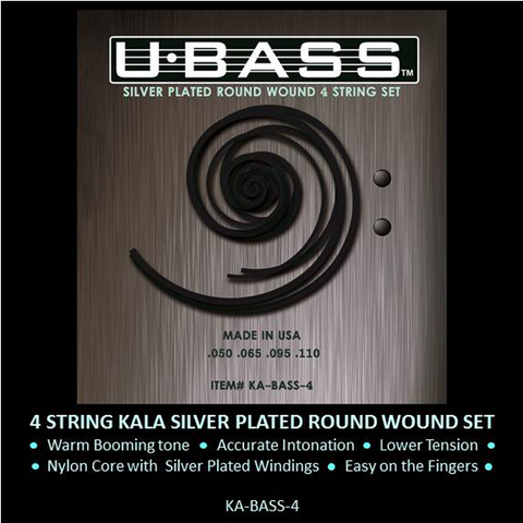 KA-BASS-4 Roundwound metal UBASS Strings UPGRADE from the standard polyurethane strings.