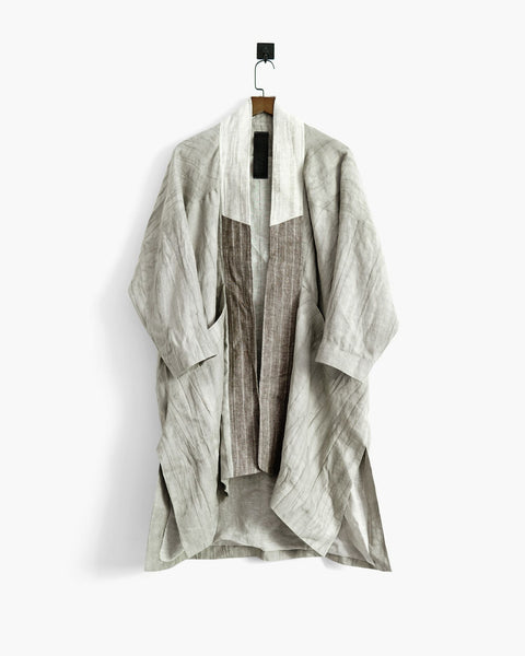 ROSEN Mengzi Coat in Mud-Dyed Ramie