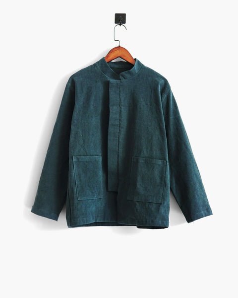 ROSEN Claude Jacket in Textured Linen Cotton