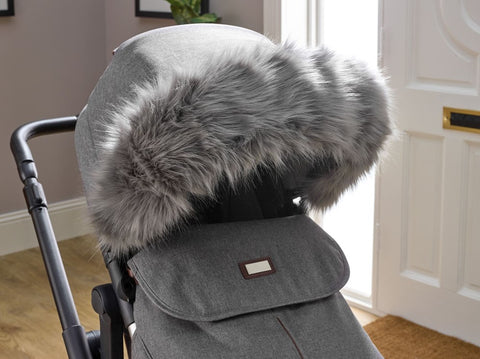 Clair de Lune Universal Pram/Pushchair Faux Fur Trim
