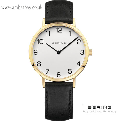 Bering Classic Ladies Leather Strap Watch 13934-434