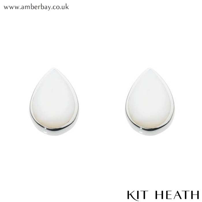 Silver Mother of Pearl Teardrop Studs 3061MP Kit Heath at Amber Bay