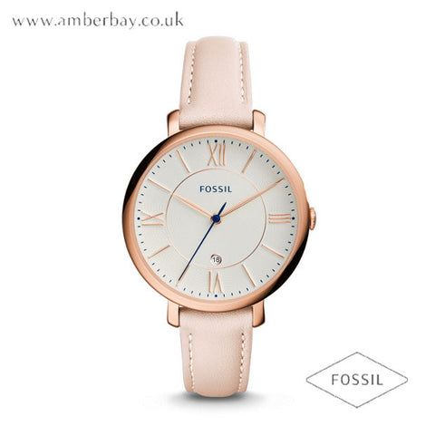 Fossil ES3988 Ladies Jacqueline Blush Leather Strap Watch