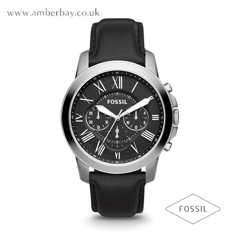Fossil FS4812 Gents Leather Strap Multifunction Grant Watch