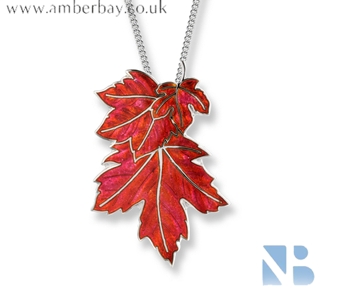 Nicole Barr Sterling Silver Maple Leaf Necklace SN0520A