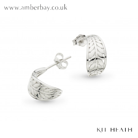 Silver Kit Heath Blossom Eden Wrapped Leaf Studs