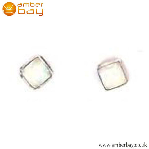 Sterling Silver Opalique Ear Studs at Amber Bay