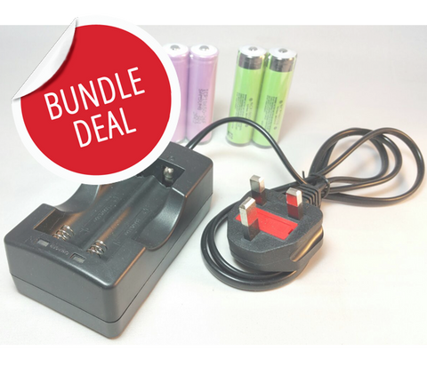 *BUNDLE DEAL* Dual Smart Cell battery charger & batteries