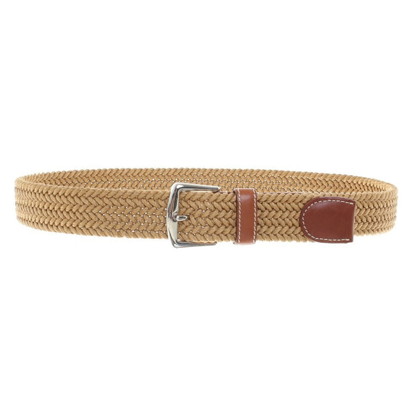 LORO PIANA Belt with braiding Leather Brown Size 105 / 42 Men
