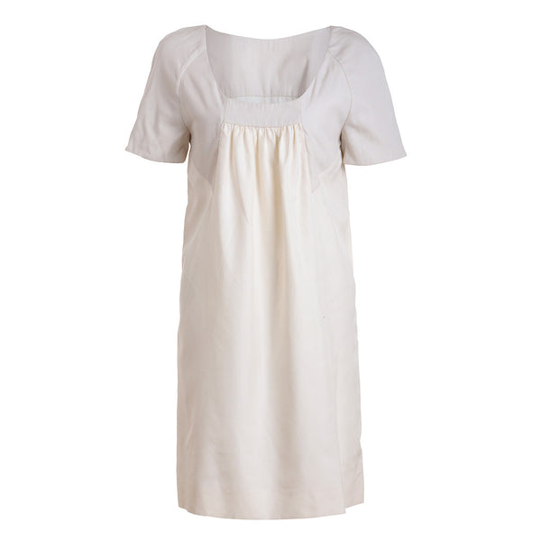 CHLOÉ CHLOE MILK COTTON SILK DRESS SIZE FR 38 Ladies