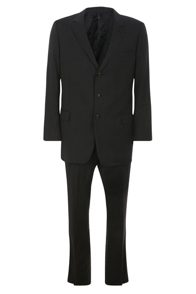 CHRISTIAN DIOR WOOL STRIPED TWO-PIECE SUIT SIZE I 56  US 46 XXL MEN