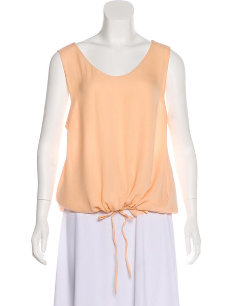 Chloé Chloe Runaway Apricot Pink silk blouse top F 34 UK 4 US 0 Ladies