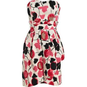 TEMPERLEY ALICE by Temperley Jude printed cotton-twill dress UK 10 Ladies