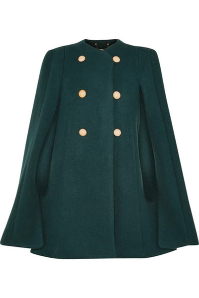 Chloé Chloe Wool and mohair-blend cape Coat Worn By Royals Ladies