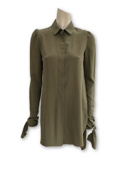 CHLOÉ CHLOE RUNAWAY LONG SILK SHIRT BLOUSE LADIES
