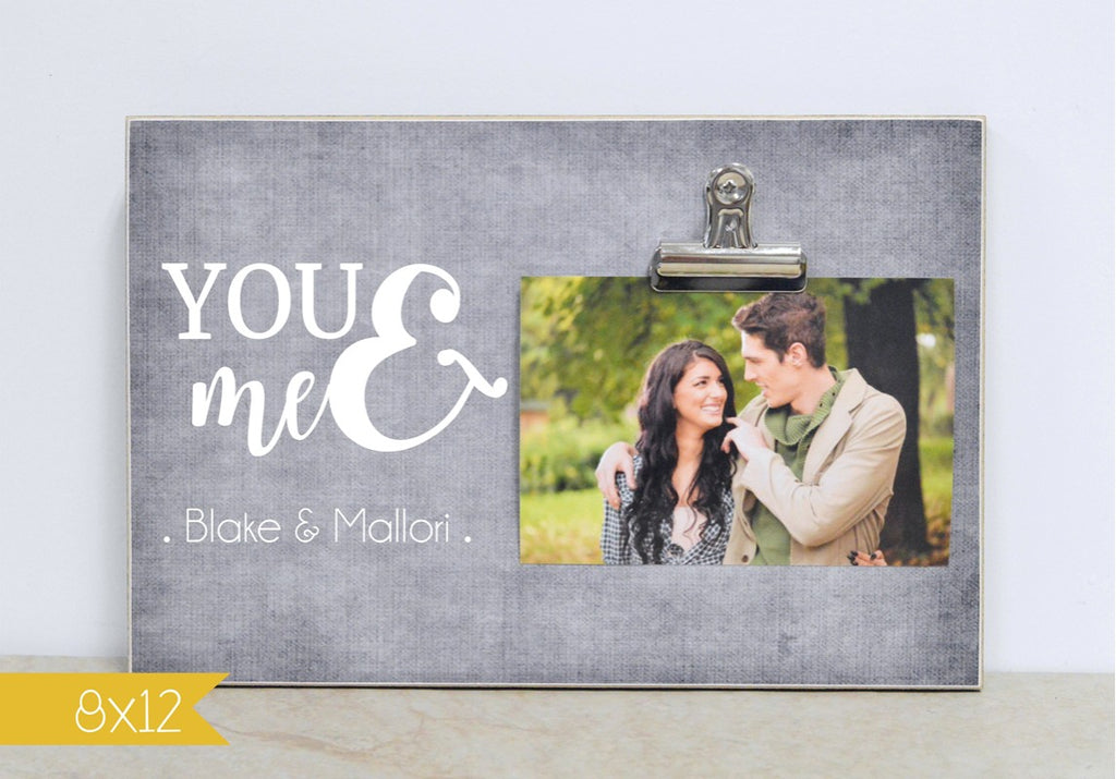 you and me personalized photo frame gift for valentines day couples