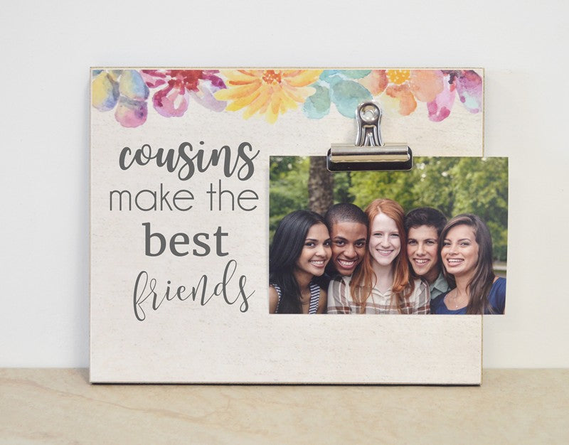 cousins make the best friends, custom photo frame, cousins picture frame, gift for cousins, cousins gift