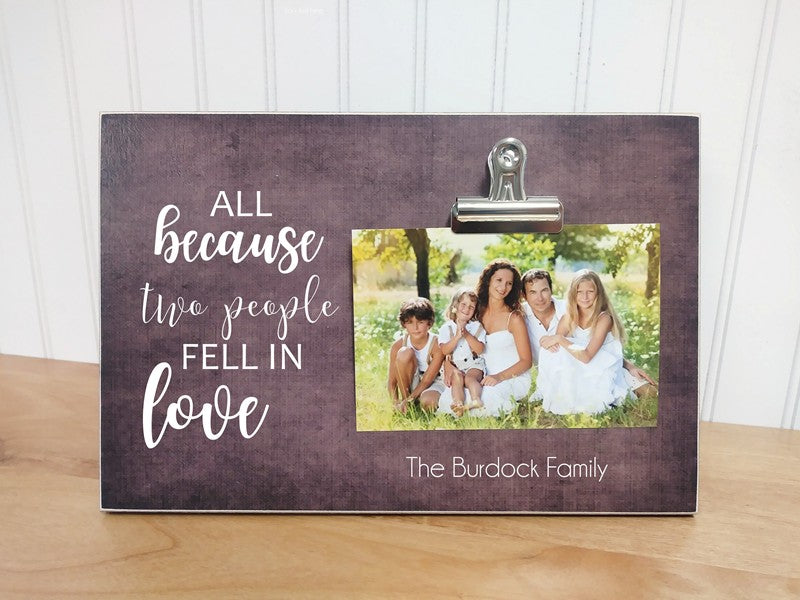 wedding gift picture frame
