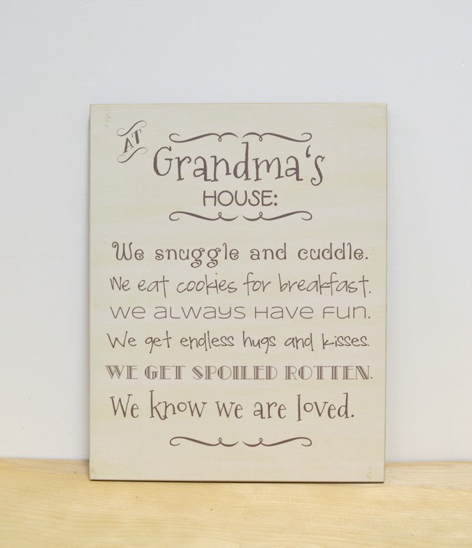 grandmas house rules sign, personalized gift for grandparents