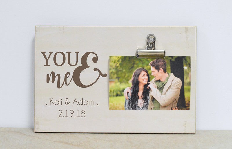 you and me photo frame for couple