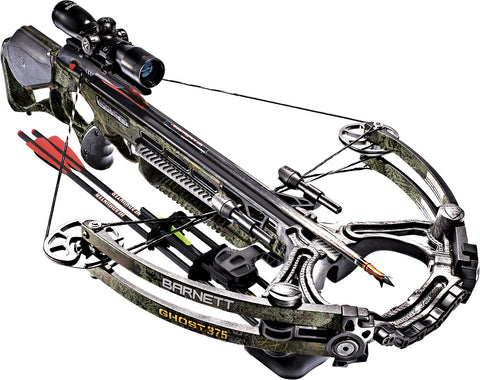 Barnett Ghost 375 Realtree Max-1 Hunting Crossbow 165lbs w/4x32 Illuminated Scope